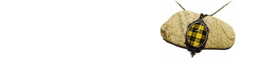 Bijoux avec motifs de tissus La Blanche Hermine