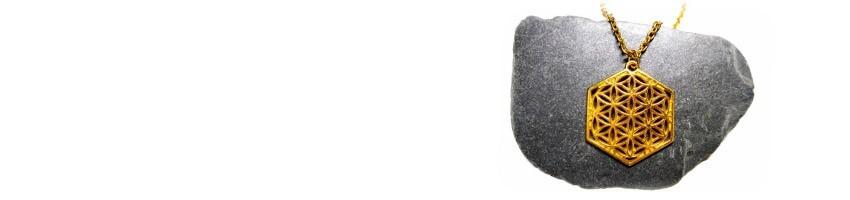 Colliers et pendentifs or La Blanche Hermine
